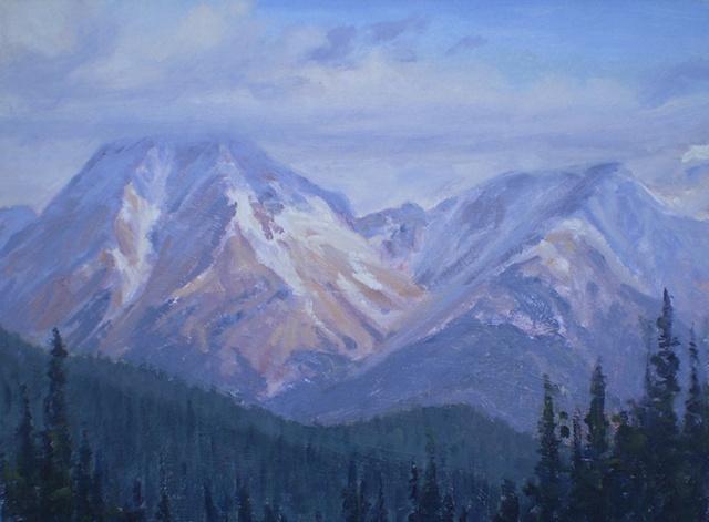 Ken Chapin plein air landscape painting Colorado