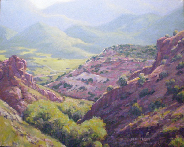Plein Air Painting  Colorado Arkansas River Ken Chapin