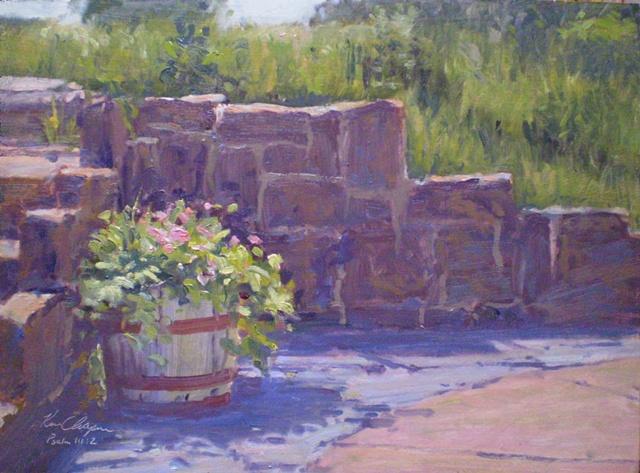 impressionist plein air floral painting Overland Park Kansas Arboretum