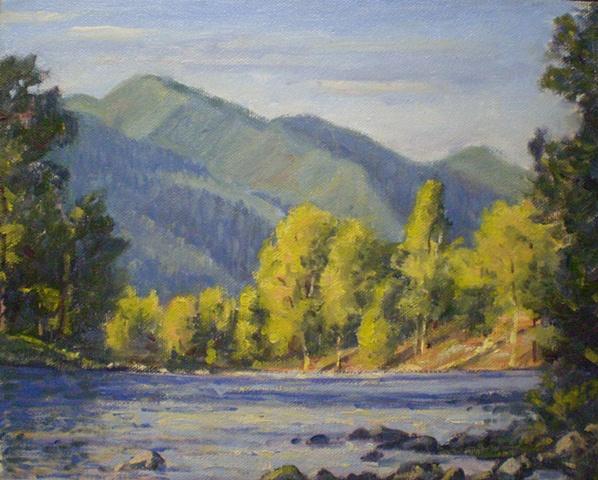 Plein Air Painting Ken Chapin Colorado Animas River