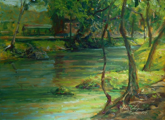 plein air oil painting arkansas cotter