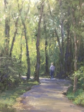 Little Blue Trace, plein air painting, oil painting, landscape painting