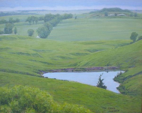 Flint Hills Kansas Landscape Painting