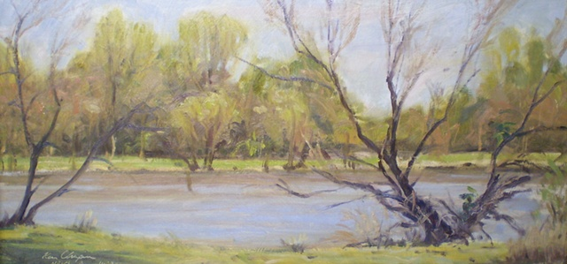 impressionist plein air landscape painting James A Reed Wildlife Area