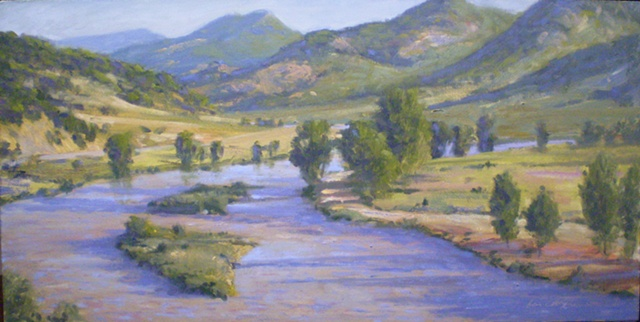 Colorado, Arkansas River plein air painting Ken Chapin