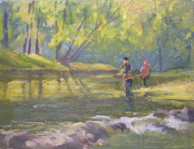 impressionist plein air landscape painting