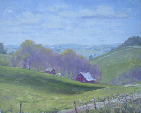 plein air impressionist landscape painting augusta missouri