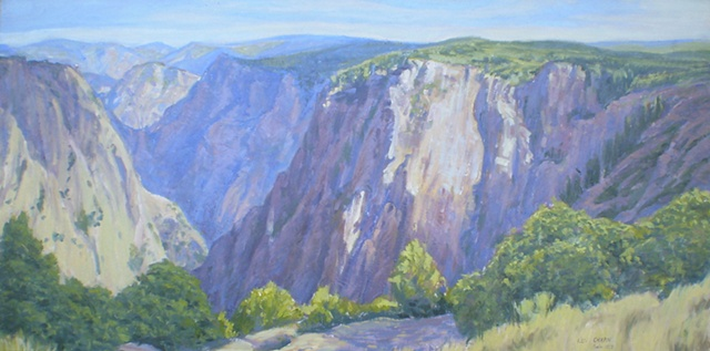 Impressionist Landscape Painting Black Canyon of the Gunnison