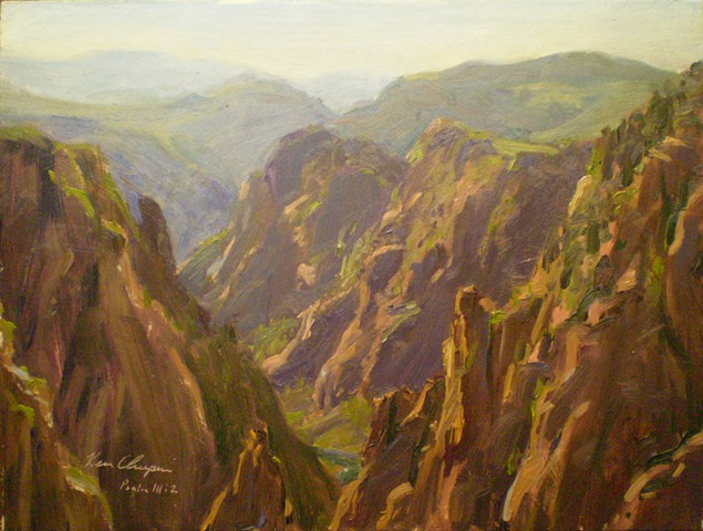 black canyon gunnison plein air impressionist painting