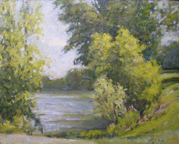 Plein Air Painting Ken Chapin Missouri James A. Reed Wildlife Area