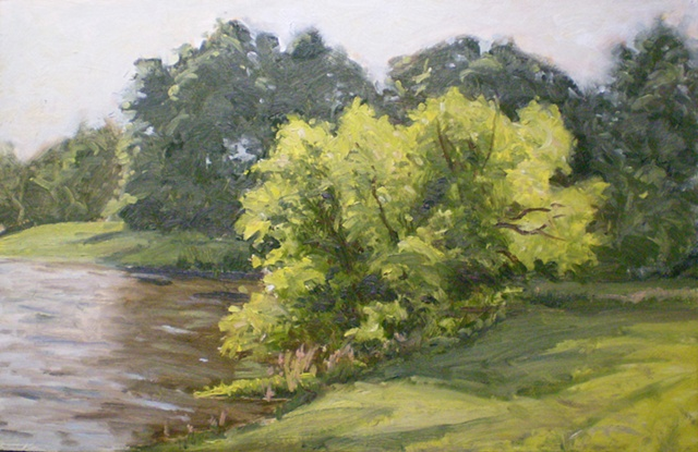 Plein Air Painting Ken Chapin Missouri James A. Reed Wildlife Area