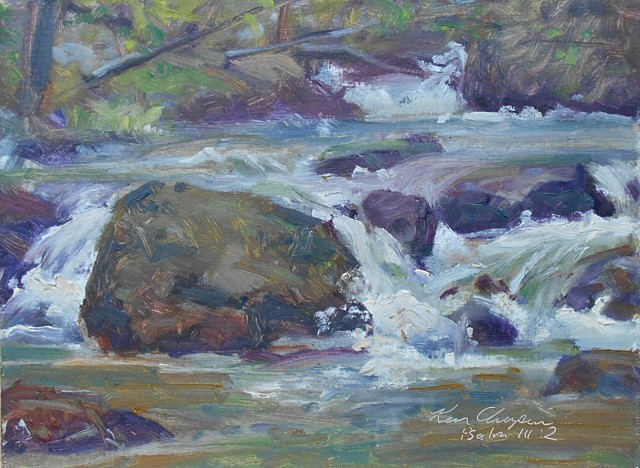 plein air oil painting colorado rocky mountain national park