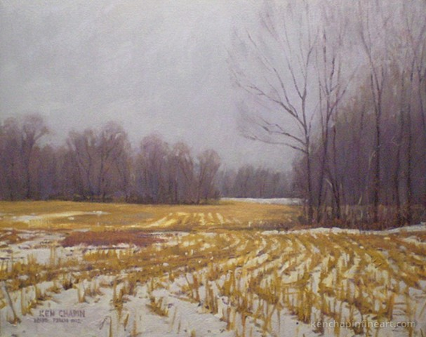 oil landscape painting, Jackson County Missouri