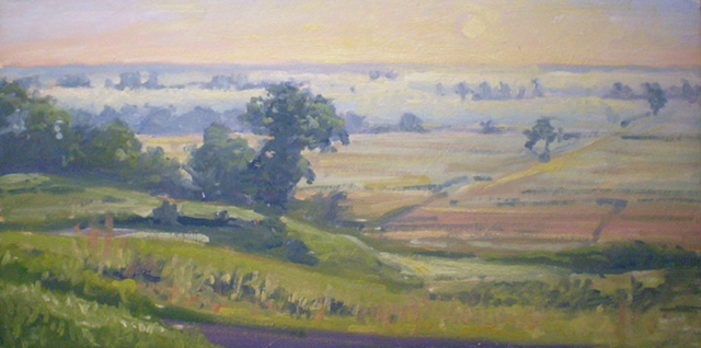 Plein Air Painting Ken Chapin Nodaway Valley Conservation Area