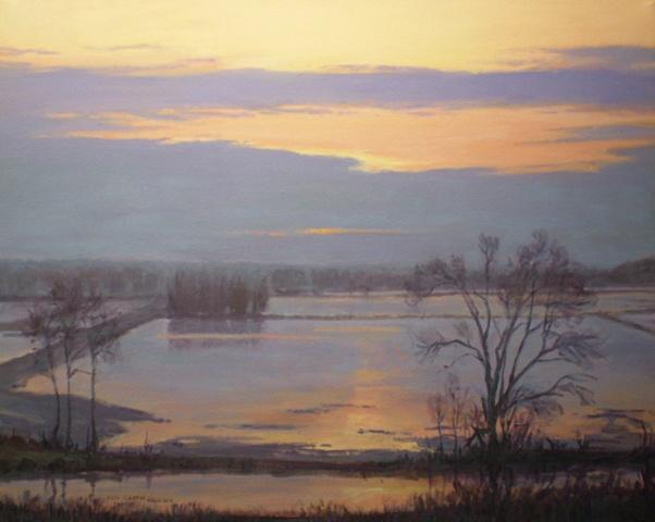 Impressionist Landscape Painting Nodaway Valley Missouri