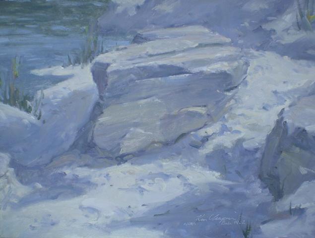 impressionist plein air landscape painting klondike park missouri