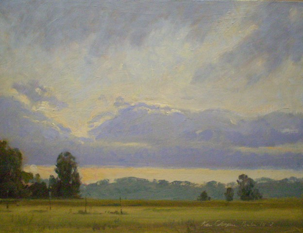 Little Blue Trace, Plein Air Painting, Impressionism