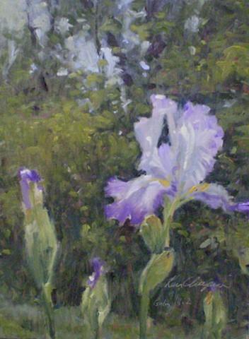 painting floral plein air