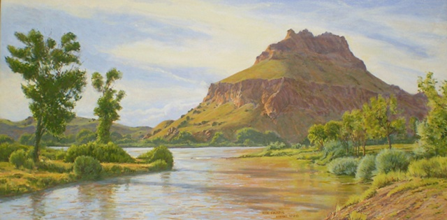 Impressionist Landscape Painting New Mexico Chama River