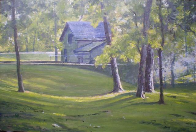 impressionist plein air landscape painting Meramec Spring Park