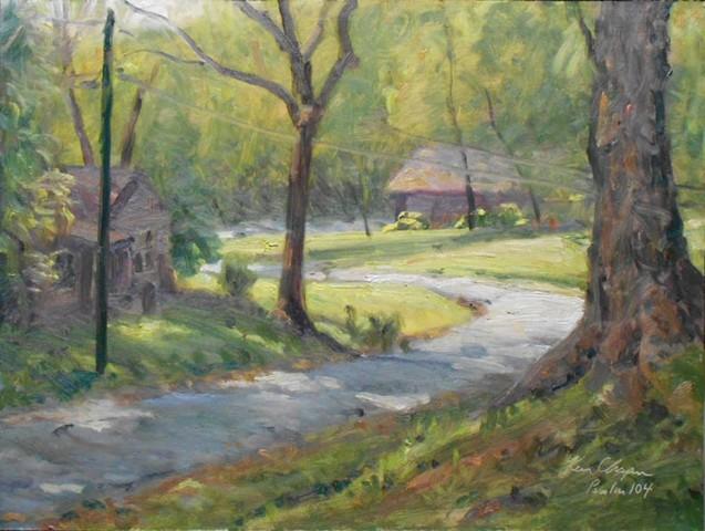 Parkville, Missouri; plein air painting
