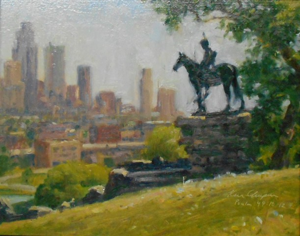 plein air impressionist painting kansas city missouri