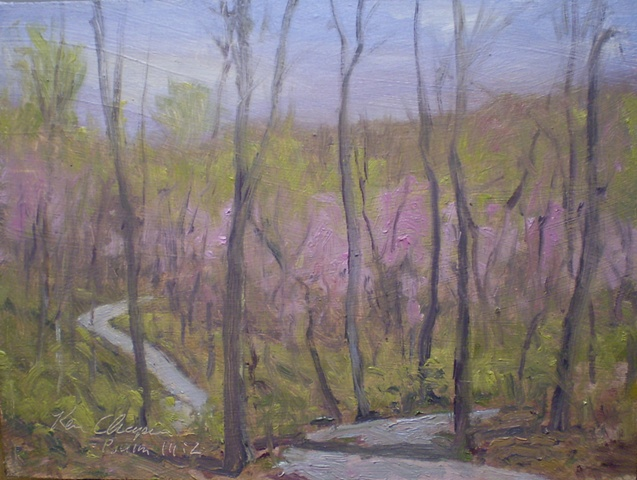 impressionist plein air landscape painting Burr Oak Woods
