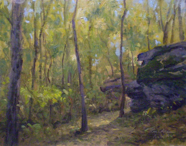 plein air landscape painting missouri Burr Oak Woods