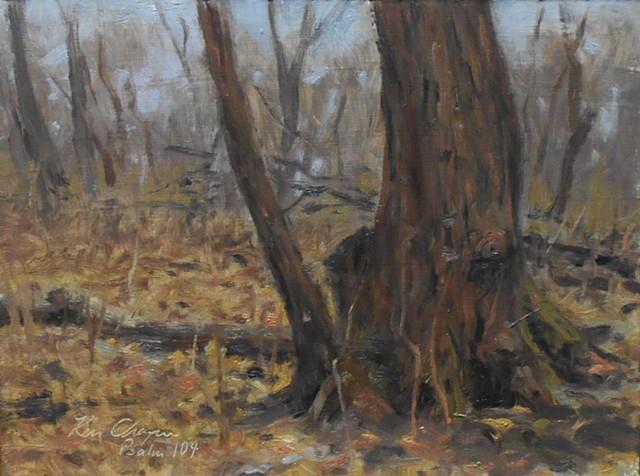 Burr Oak Woods Conservation Area; plein air painting