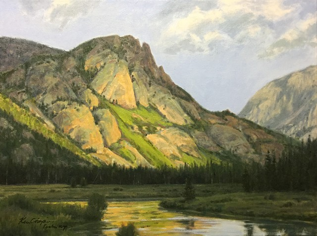 oil painting, landscape painting, Rocky Mountain National Park