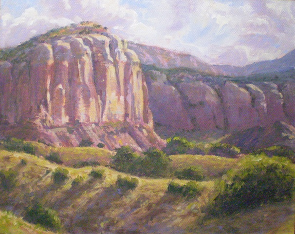 Plein Air Painting Ghost Ranch New Mexico Ken Chapin