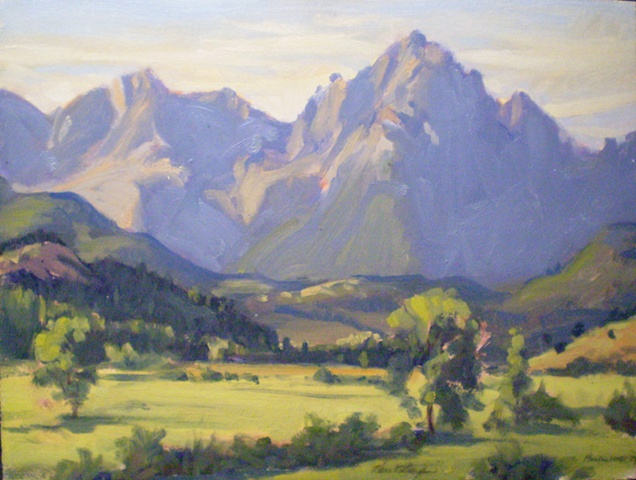 Plein Air Painting Ken Chapin Colorado Sneffels Wilderness