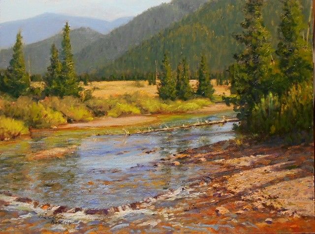 lamdscape painting Rocky Mountain National Park
