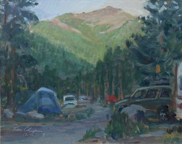 plein air oil painting Rocky Mountain National Park Colorado