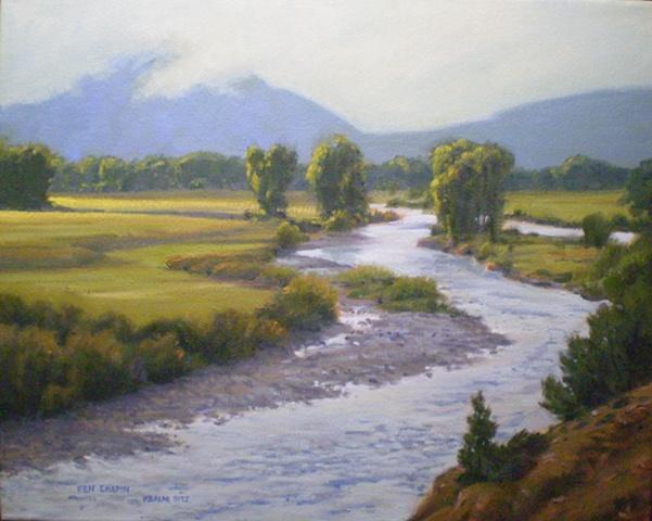 Impressionist Landscape Painting Colorado Buena Vista Ken Chapin