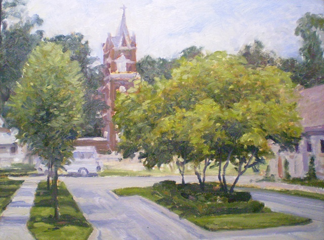 Plein Air Painting Ken Chapin Excelsior Springs, Missouri