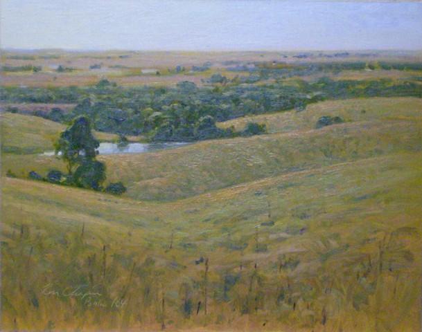 Chase County Kansas plein air painting oil