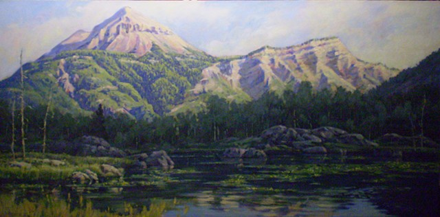 impressionist landscape painting colorado engineer mountail
