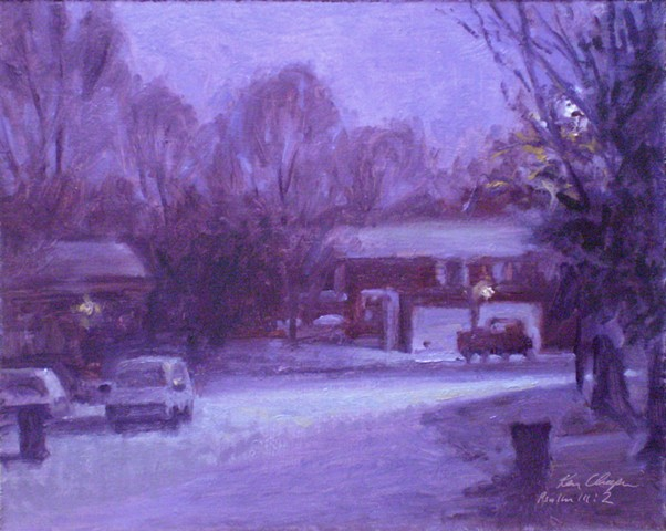plein air winterlandscape painting missouri