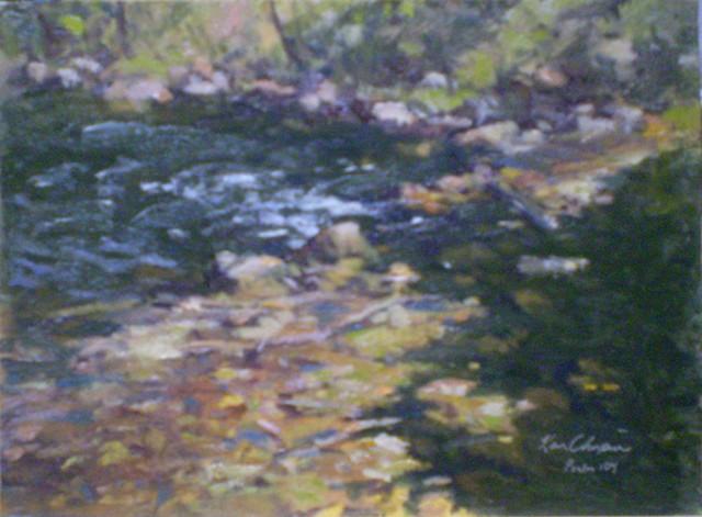 plein air landscape painting missouri Little Blue River
