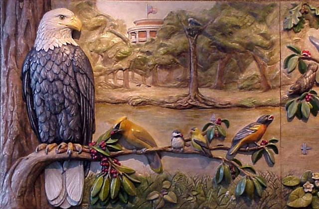 Plaque #1 - Eagle and Waxwing