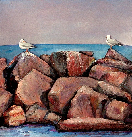 """Seagulls on Jetty"""
