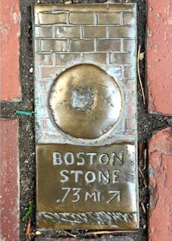 Boston Stone.  Mile Marker in...