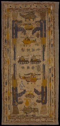 afghan war rug monoprint