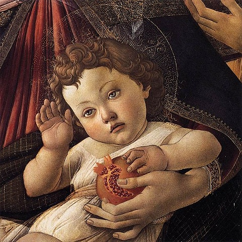 Bottecelli's Madonna and Child with Pomegranate