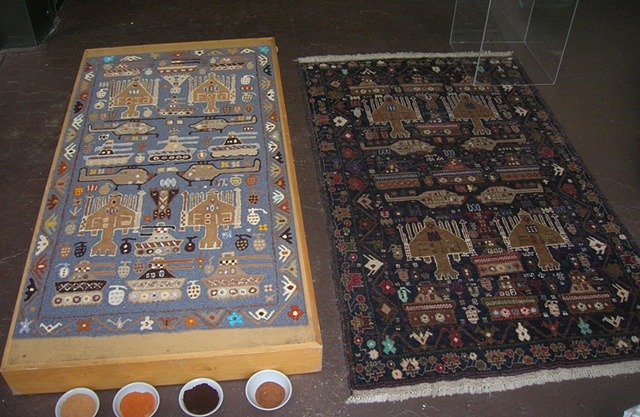 The original rug and the imitation