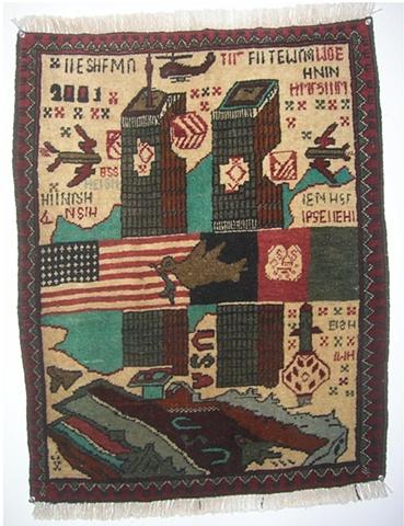 Twin Towers- Tribute Rug Carpet-9/11 2001- USA History