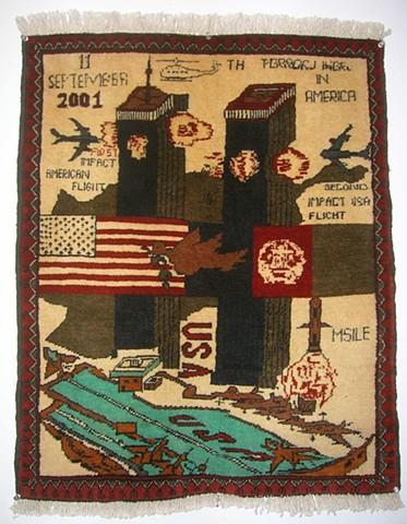 Lynn's 9/11 Rug c.2003