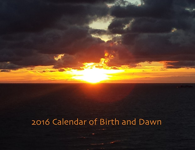 2016 Calendar of Birth and Dawn cover