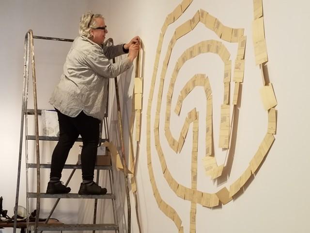 Cathi Schwalbe installing